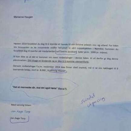 Nye falske brev impliserer Metodistkirken også