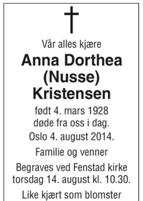 Anna Kristensen er forfremmet til herligheten!