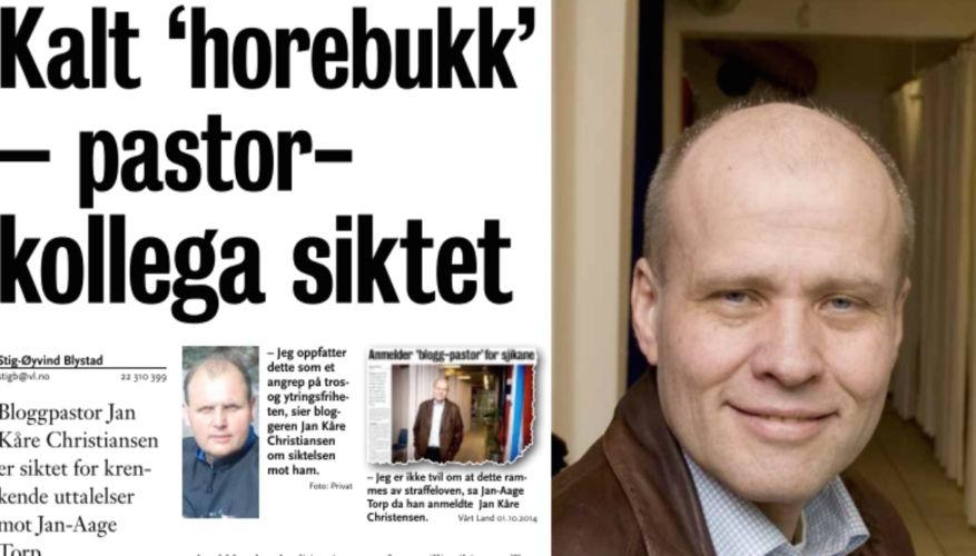 """Politiet sikter """"pastor"""" for sjikane av Torp´ene"""