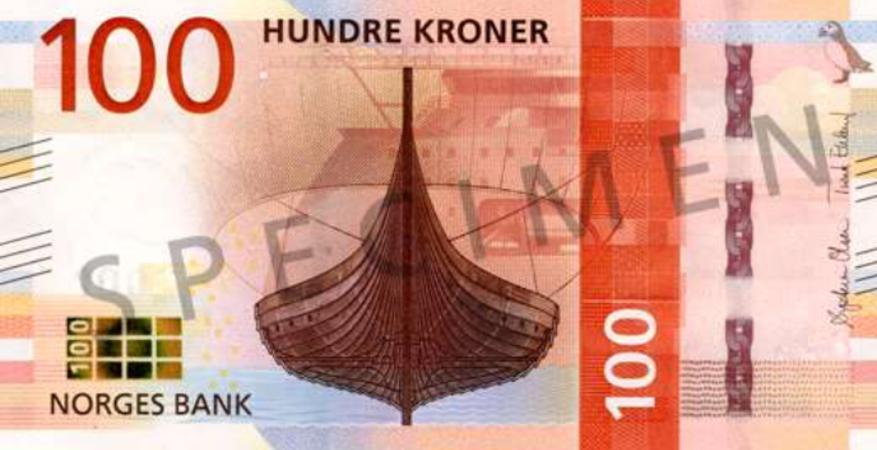 100 kroner - Jesus og «to småmynter»