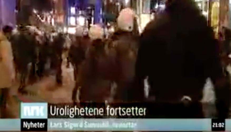 Anti-israelske opptøyer i Oslo