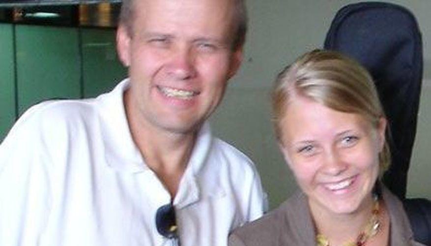 Julie og pappa til Afrika