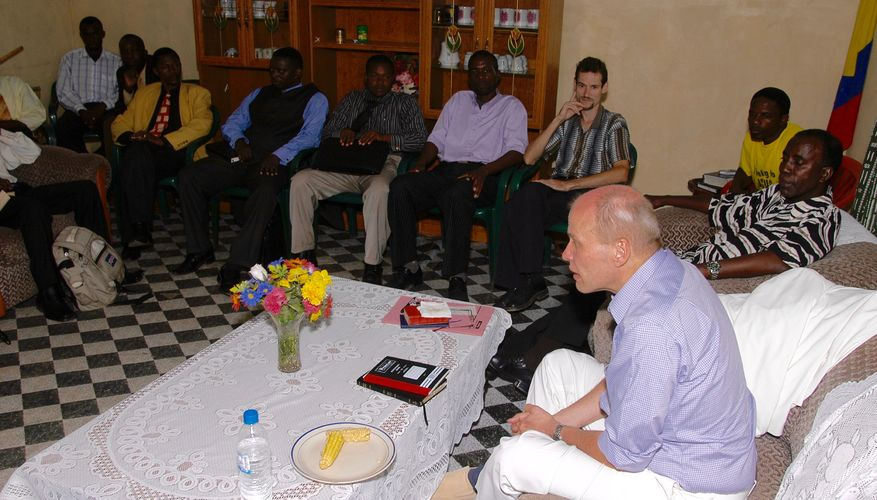 Jan-Aage på besøk i Zambia