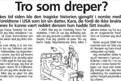 Jan-Aage åpenhjertig i VG om psykiater-hjelp