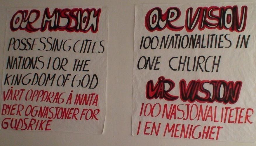 Visjonen er 100 nasjonaliteter i samme menighet