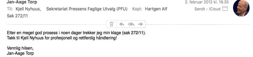 Minnelig ordning med NRK