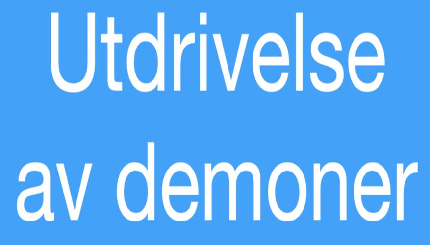Utdrivelse av demoner